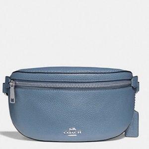 NIB Auth COACH Leather Belt Bag Fanny Pack